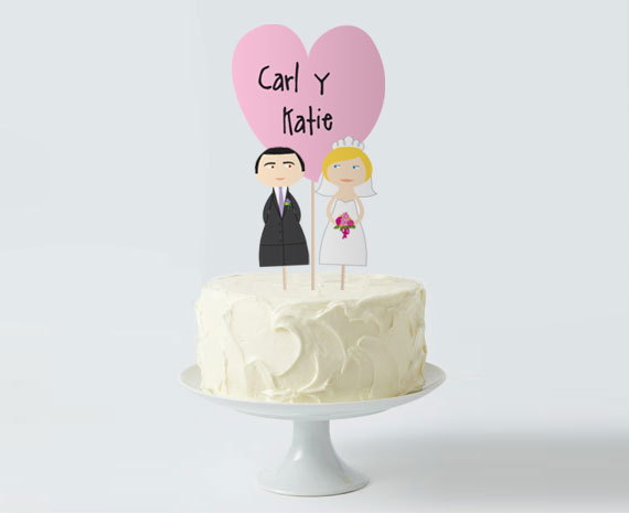 picture about Printable Cake Toppers named Marriage Cake Topper Fastened, Tailor made Bride Groom Middle