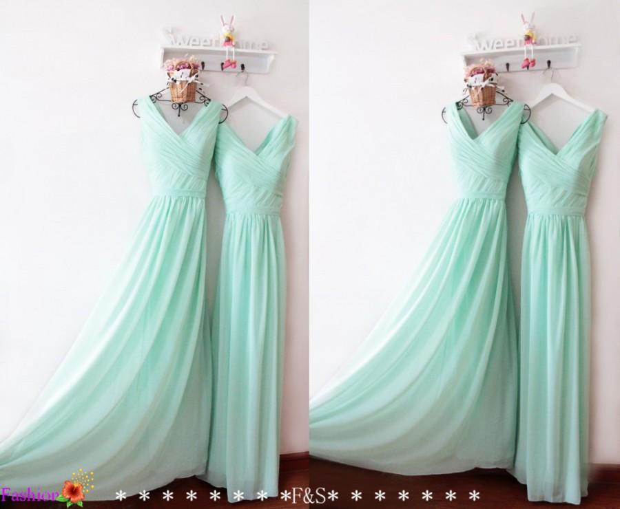 Mint bridesmaid dress ruched prom dress under 100 long for Long wedding dresses under 100