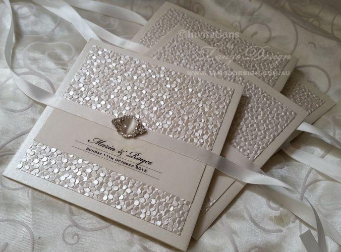 vintage wedding invitations with pearl crystal luxury wedding invitation 1x sample invite pocketfold with info and rsvp cards - Luxury Wedding Invitations