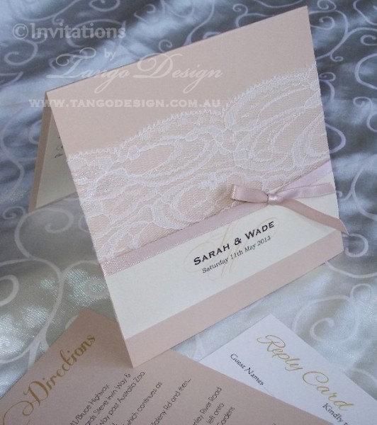 زفاف - Lace wedding invitations x50 - vintage wedding invitation with lace, Made in Australia design