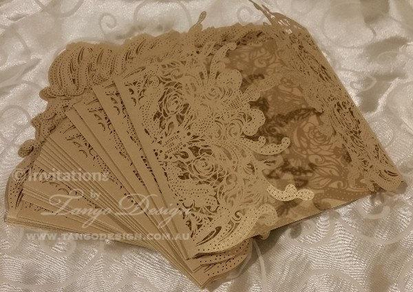 Diy lasercut wedding invitations gold lace pattern kit makes 50 do diy lasercut wedding invitations gold lace pattern kit makes 50 do it yourself invites solutioingenieria Gallery