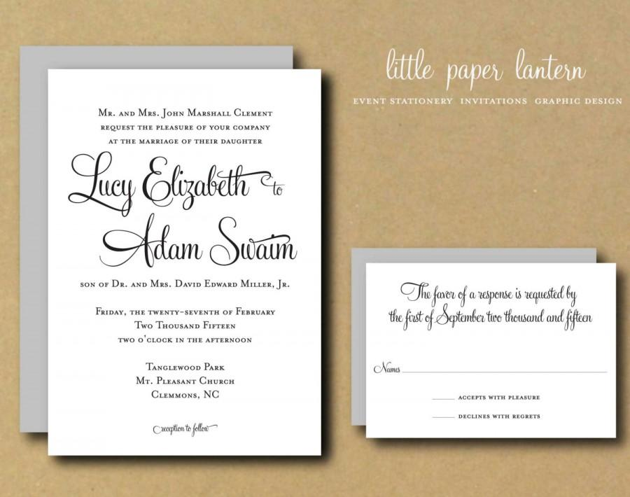 Wedding Invitation Suite Templates: Printable DIY Wedding Invitation Template