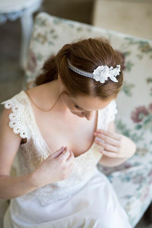 زفاف - Bridal Lace Headpiece, Wedding Lace Hair accessories, Vintage Wedding Headband, Lace Boho Bridal Headband, Boho Wedding Bride Headpiece
