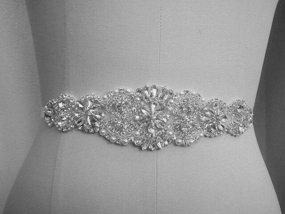 Hochzeit - Bridal Sash, Bridal Belt, Wedding Sash, Beaded Belt, Crystal Sash, Rhinestone Belt, Wedding Dress Sash, Wedding Dress Belt, style 77