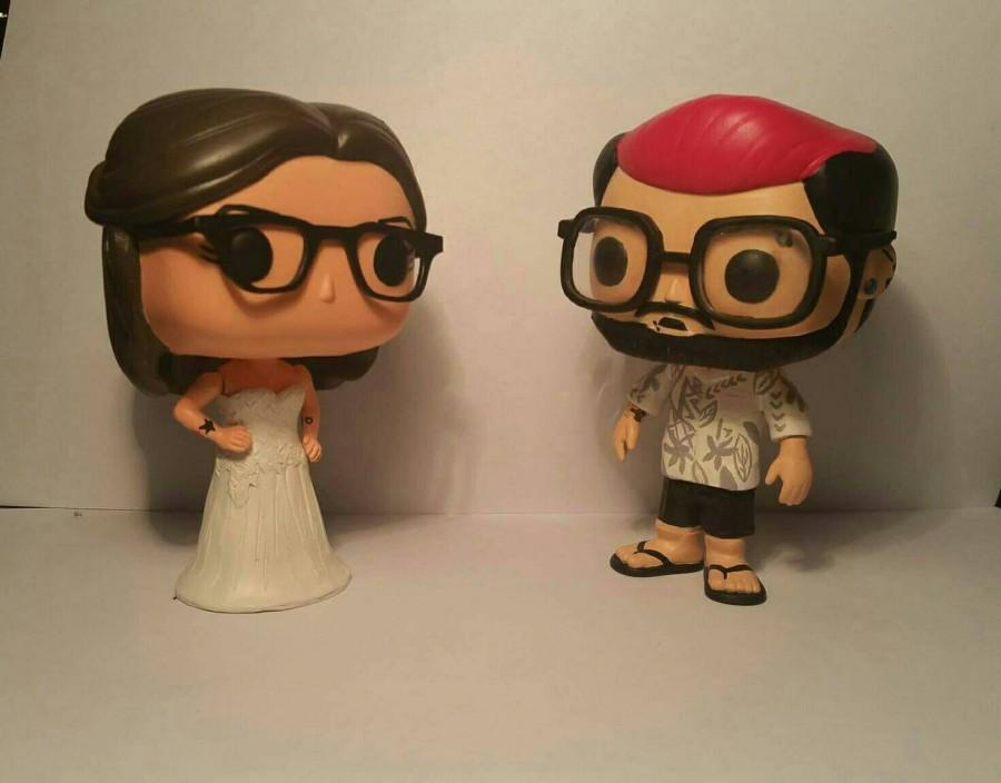 Свадьба - Custom Funko Pop Wedding Cake Toppers - Made to look like you