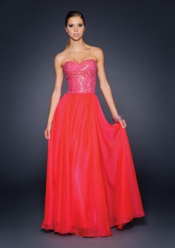 Свадьба - Sweetheart Red Beading Chiffon Sleeveless Floor Length
