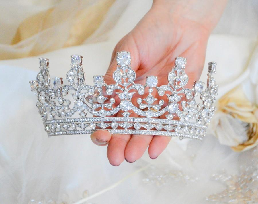 Wedding - Royal Wedding Tiara, Queen Elizabeth Tiara, Royal Bridal Tiara, Crystal Wedding Tiara, Princess Crown, Queen Elisabeth Crown, Wedding Crown