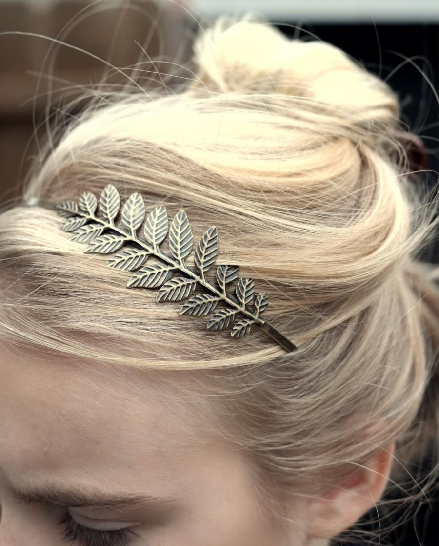 Свадьба - Gift for Women Gift for her Grecian Goddess Bronze Leaf Headband Laurel leaves Antique Tiara