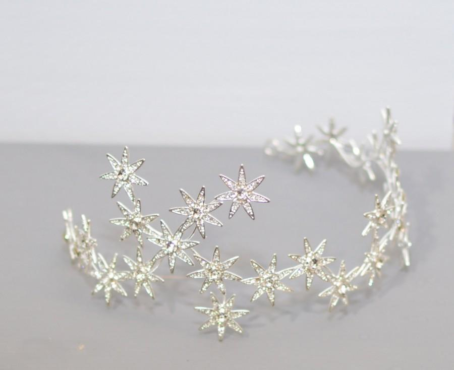 Assez Wedding Tiara, Stars Tiara, Swarovski Crystal Tiara, Royal Bridal  TQ11