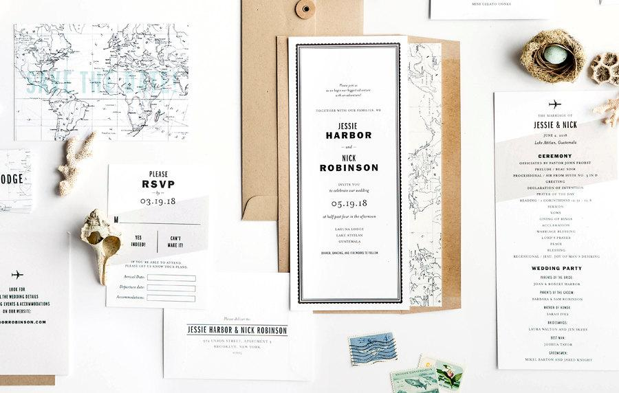 Kate Aspen Around the World Map Favor Gift Box Wedding