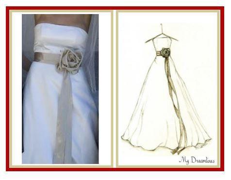 Свадьба - A Wedding Dress Sketch By Dreamlines
