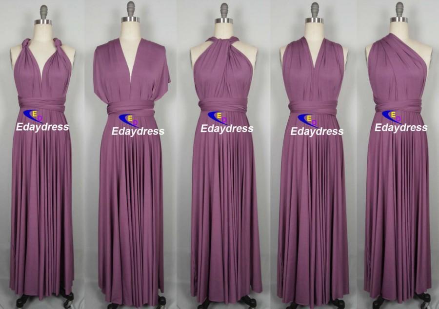 Свадьба - Maxi Full Length Bridesmaid Rose Pink Infinity Dress Convertible Wrap Dress Multiway Long Dresses