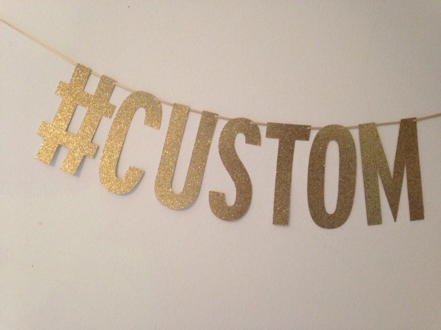 Hochzeit - Hashtag Banner