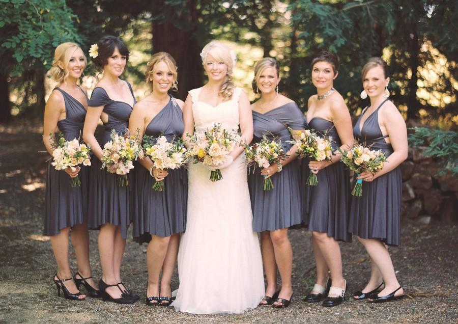 Mariage - Charcoal Gray Bridesmaid Dress