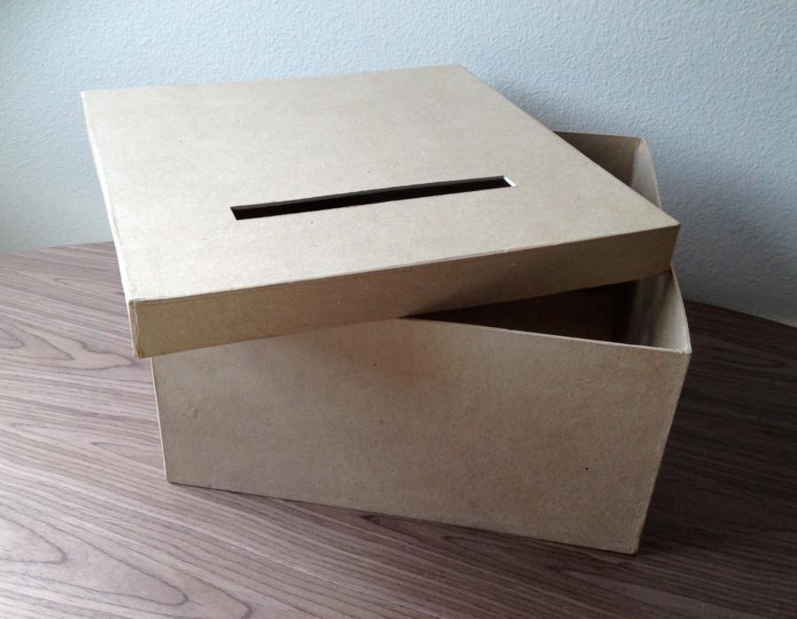 Mariage - DIY card box, rustic card box , wedding card box
