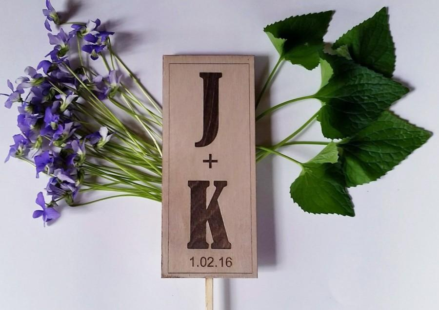 Mariage - Wedding Cake Topper - Rustic Sign w CUSTOM MESSAGE
