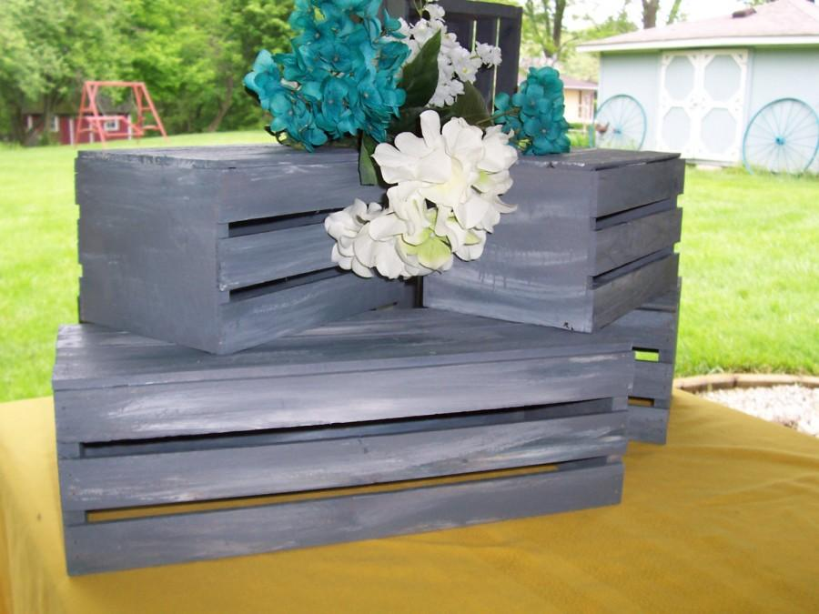 Rustic Crates Wedding Decorations 18 In Wooden Crates Wedding