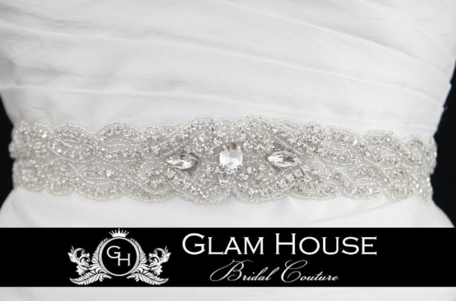 Свадьба - Sparkling Wedding Sash- Jeweled and Beaded