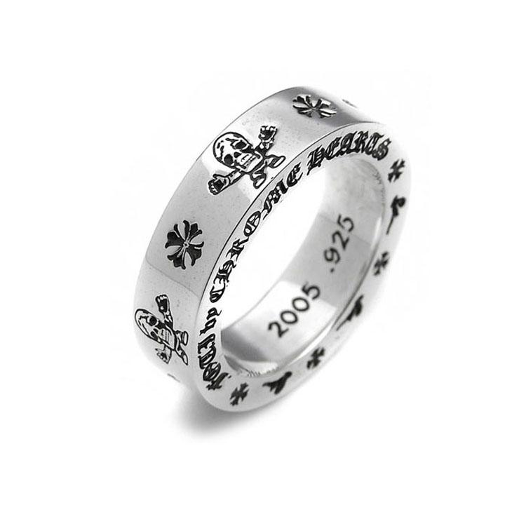 Mariage - Chrome Hearts Ring Harris Teeter Print 925 Pure Silver On Sale Online