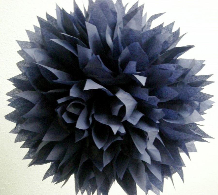 navy 1 tissue paper pom pom wedding decorations bar. Black Bedroom Furniture Sets. Home Design Ideas