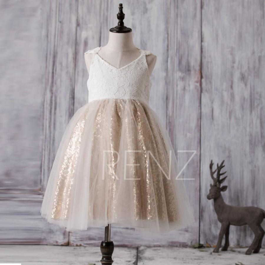 2016 off white junior bridesmaid dress short golden sequin flower 2016 off white junior bridesmaid dress short golden sequin flower girl dress a line lace baby tutu dress v neck cocktail dress fk291 ombrellifo Choice Image