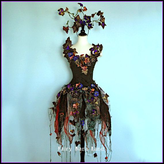 Mariage - Faerie Costume - Size Small - The Enchantingly Evil Dark Faerie - Gothic Fairy - Black Widow -32 BUST