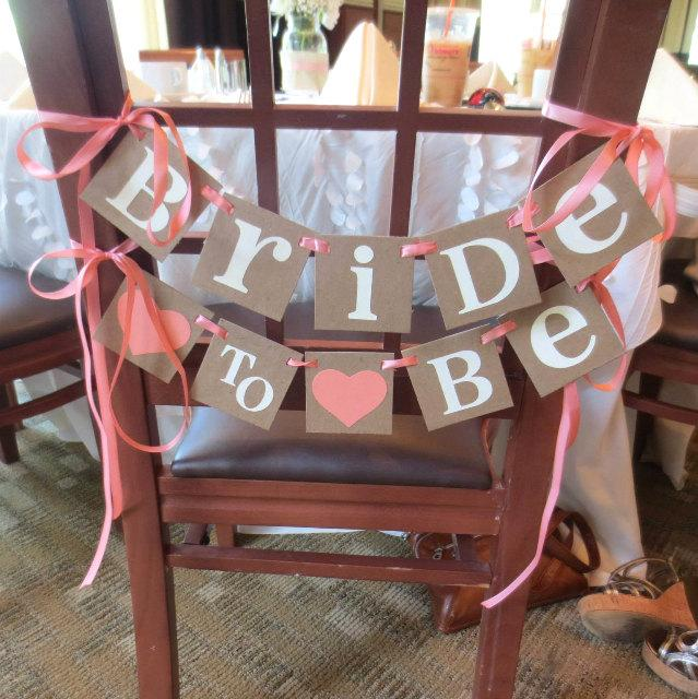 Bridal Shower Decoration Banner Bride To Be Chair Sign