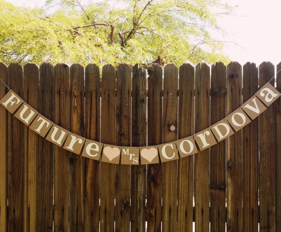 Свадьба - Bridal Shower Decoration / Bridal Shower Banner / Future Mrs. Banner / Rustic Wedding Garland / Bachelorette Sign / Bride to Be Shower