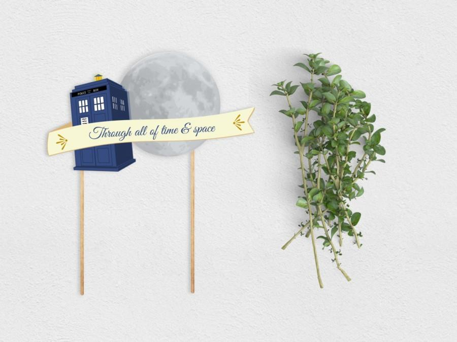 Свадьба - Whovian Cake Topper Printable Instant Download