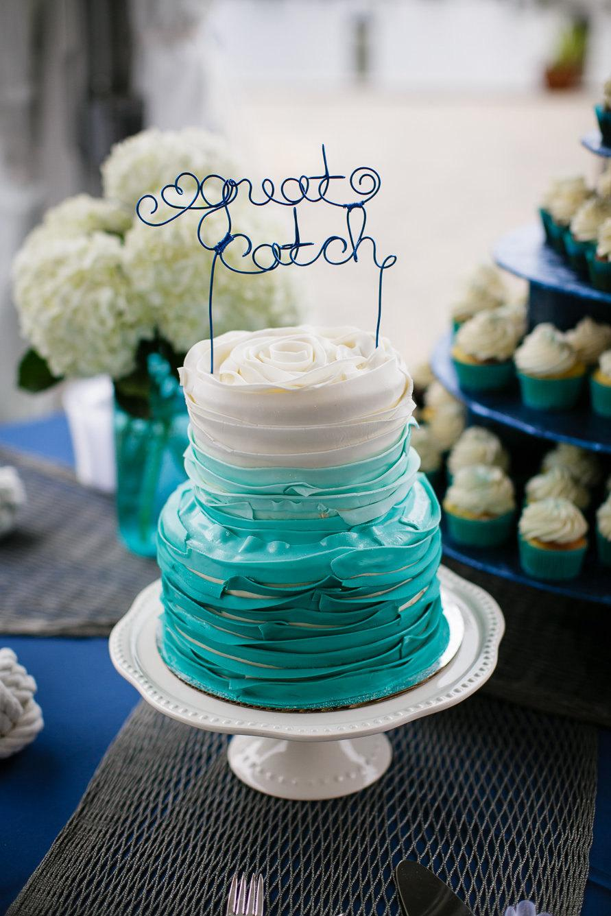 زفاف - Great Catch Cake Topper, Beach Bridal Showers