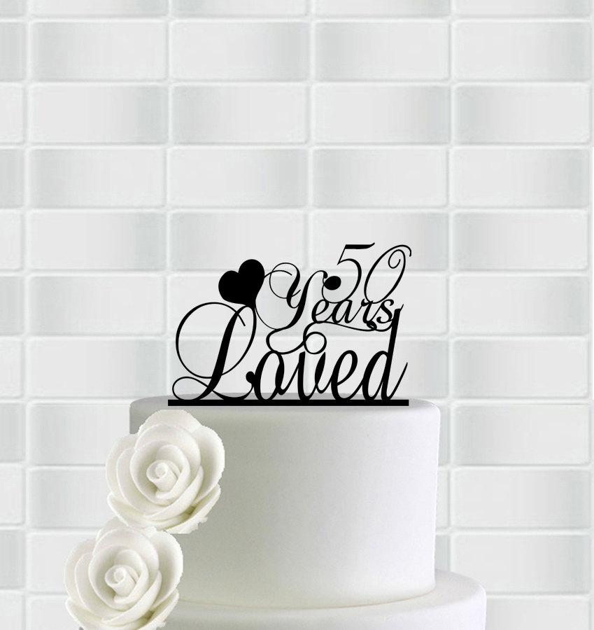 Anniversary Cake Topper50th Anniversary Cake Toppers50th Cake