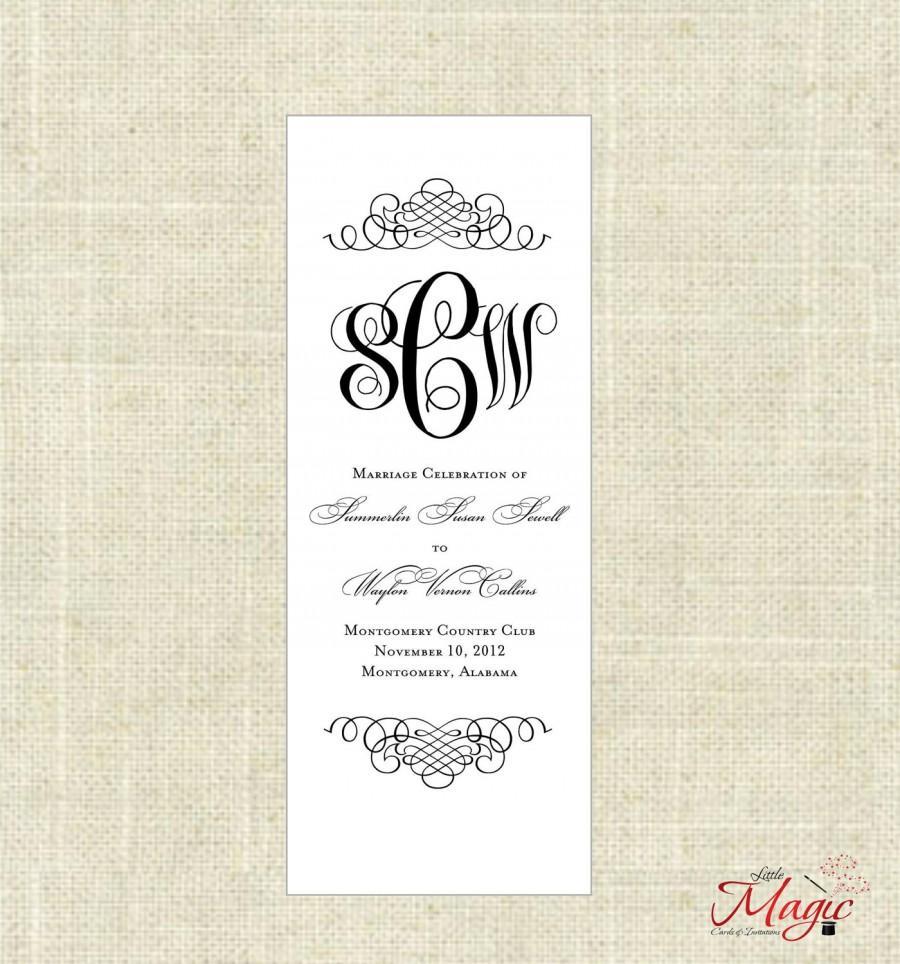 Wedding - Printable, DIY Wedding Programs - FOREVER