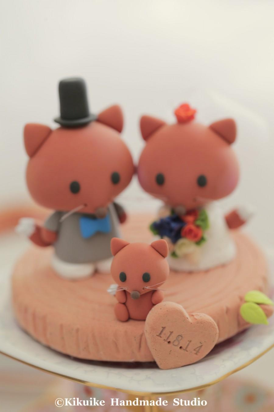 زفاف - fox  Wedding Cake Topper---k713