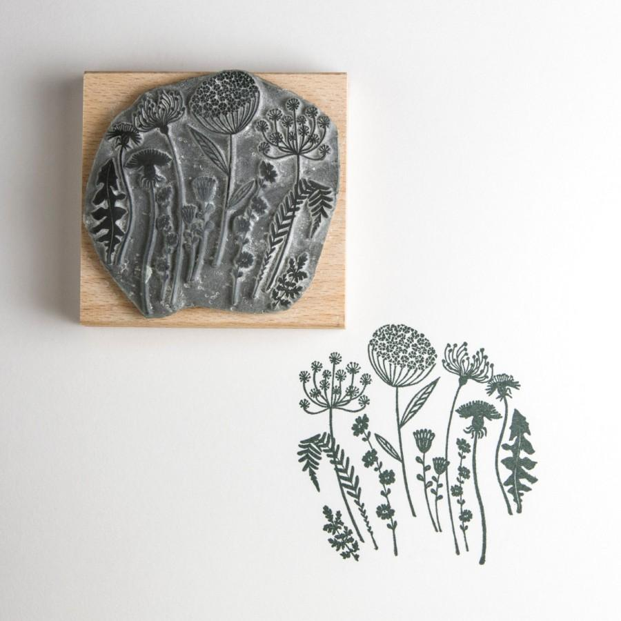Wedding - Flower Silhouette Rubber Stamp
