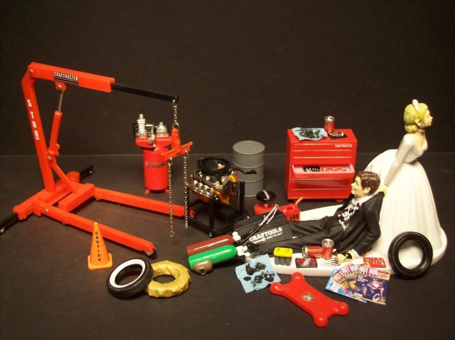 Auto Mechanic Tool Set W Chevy 302 V8 Engine Amp Stand