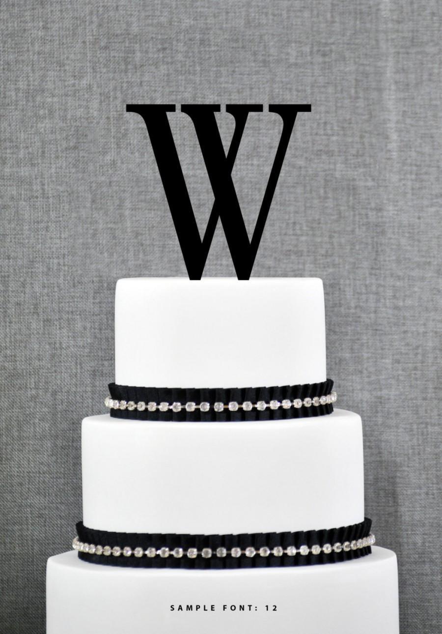 زفاف - Letter W - Initial Cake Topper, Monogram Wedding Cake Topper, Custom Cake Topper