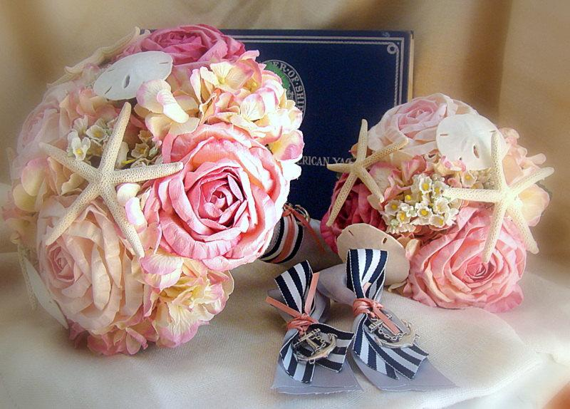 Mariage - Nautical Wedding Flower Set, Nautical Wedding Flowers