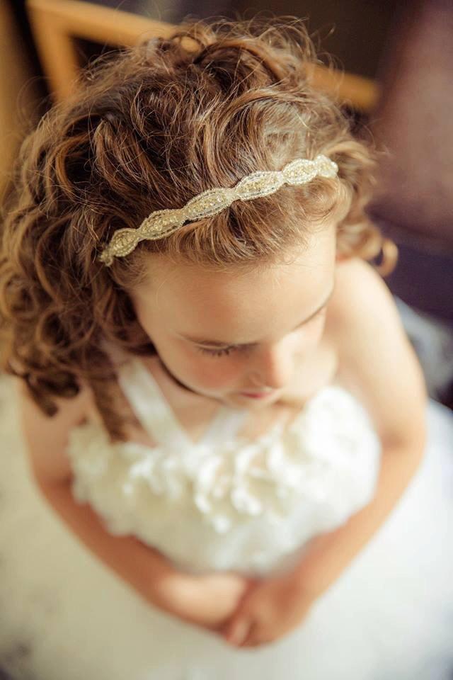 Wedding - Flower Girl Hair Accessory, Rhinestone Headband, Bridal Headband, Flower Girl Accessories, Wedding, DAKOTA