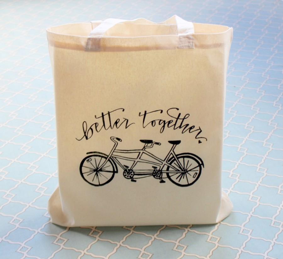 Hochzeit - Tandem Bike Better Together Wedding Welcome Bag