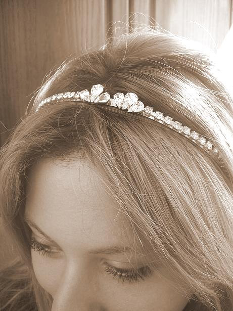 Свадьба - BRIDAL headband , TIARA, wedding  HAIR accessories, Rhinestones headband,  bridal hair accessories