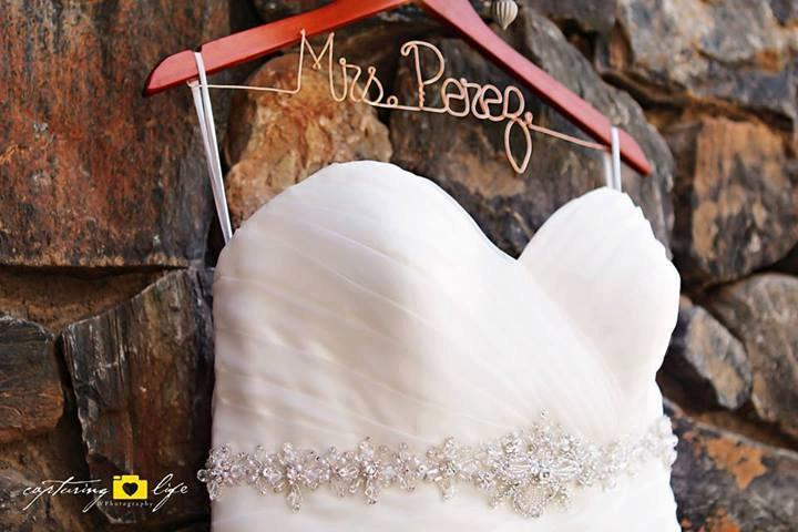 Wedding - Personalized Custom Wire Writing Hangers