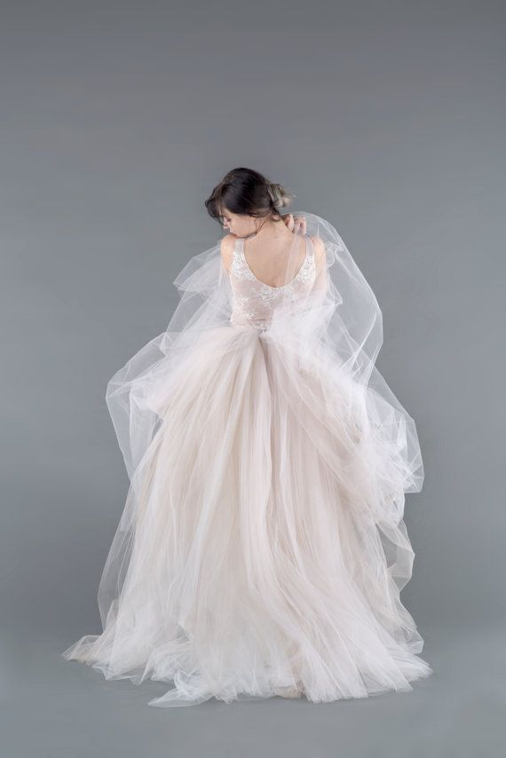 Catherine tulle gown skirt tulle wedding skirt for Tulle layered wedding dress