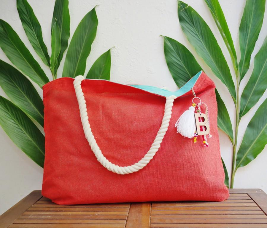 Свадьба - Customizable tote / custom beach tote bags / welcome gift bag / summer purse / coral jute totes