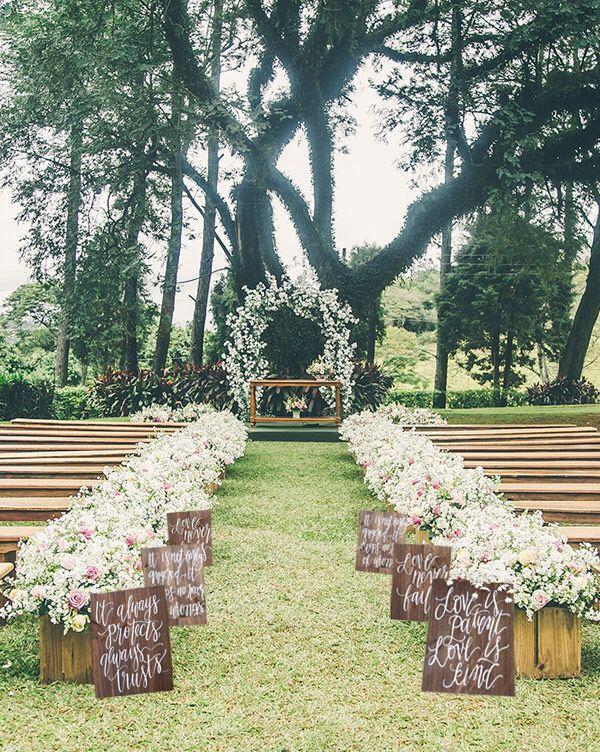 1 Corinthians 13 Wedding Aisle Signs Love Is Patient Kind Rustic Set Of 6