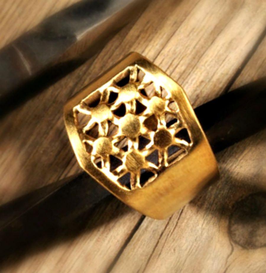 Wedding Ring. Gold Wedding Band. Women Gold Ring. Wide Gold Ring ...