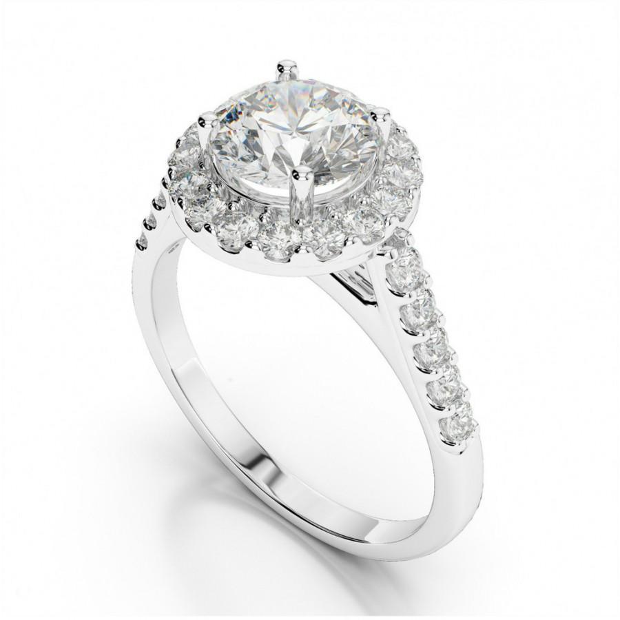 Wedding - Forever One Moissanite & Diamond Engagement Ring - Moissanite Rings Etsy - Raven Fine Jewelers