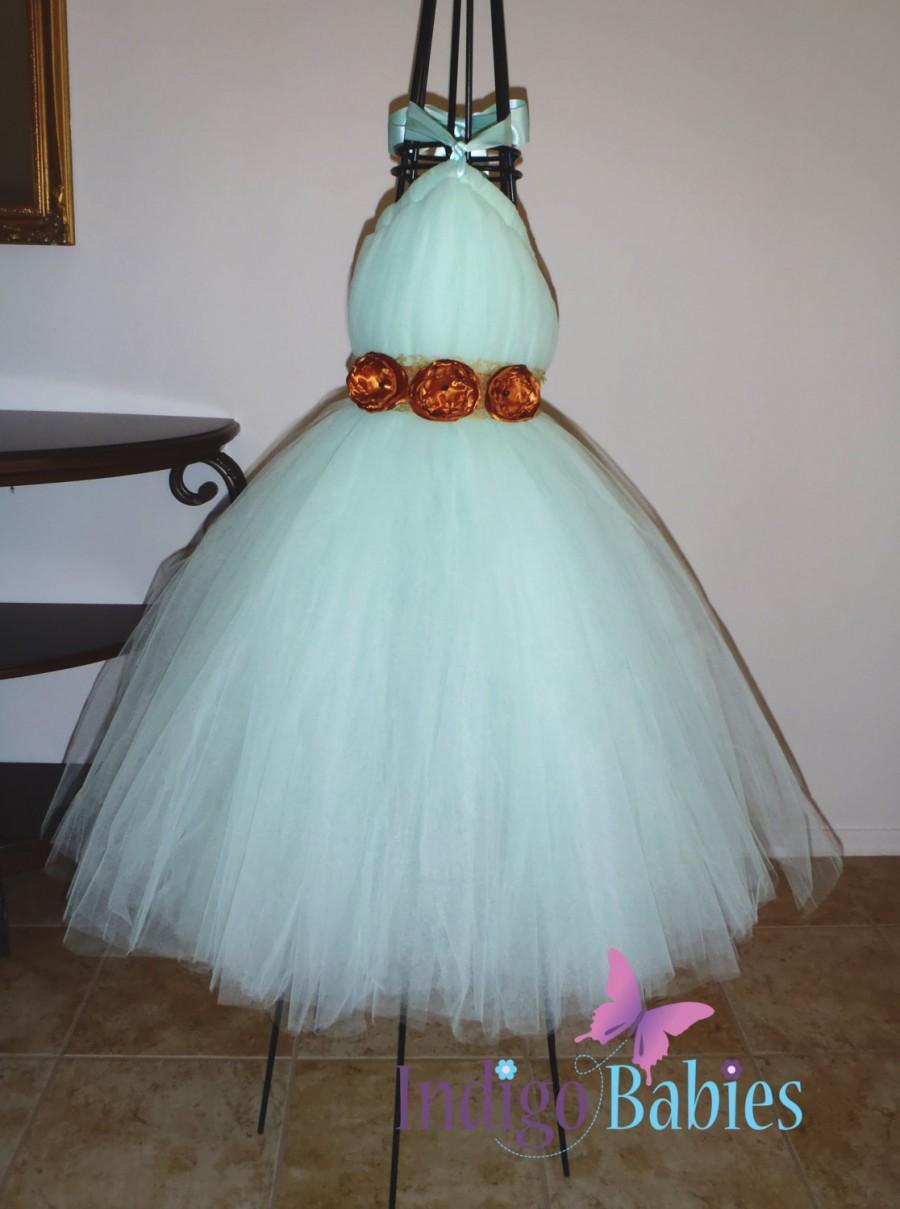 Flower Girl Tutu Dress Tutu Dresses Wedding Flower Girl Mint
