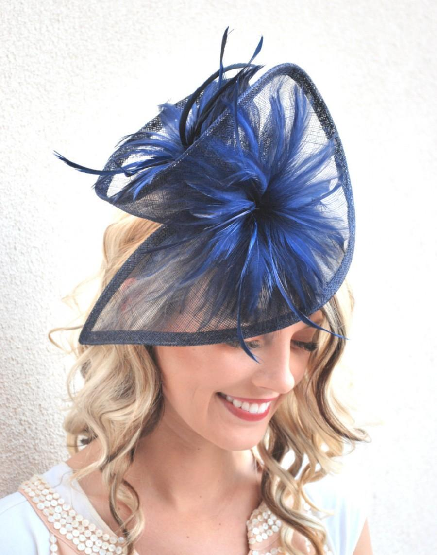 Navy Blue Fascinator b81ff96e3e5