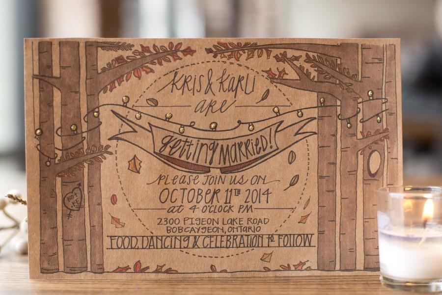 Wedding - Autumn All Lit Up Invitation Suite