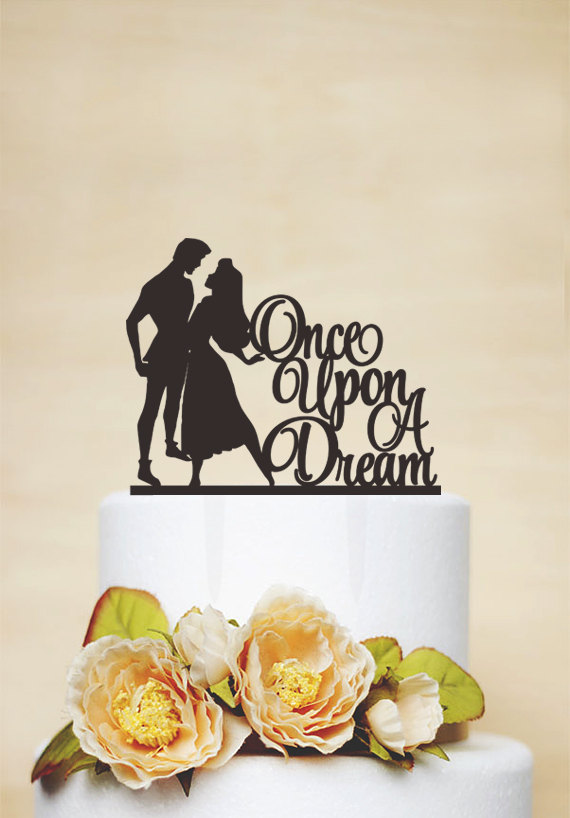 Hochzeit - Wedding Cake Topper,Sleeping Beauty Cake Topper,Custom Cake Topper,Disney Style Cake Topper,Once upon a dream Cake Topper- P154